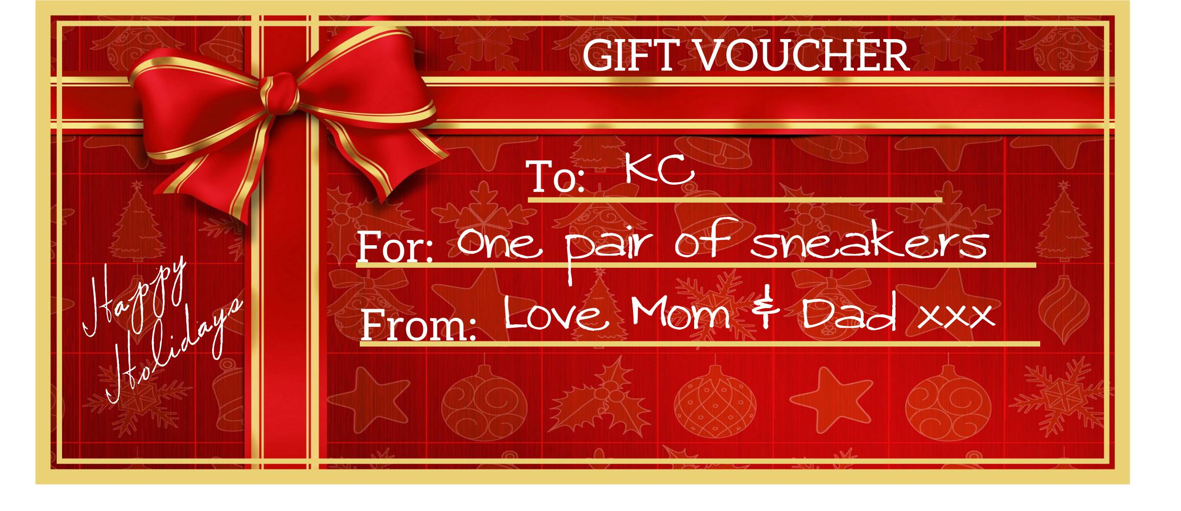 Gift Vouchers for the holidays – Download and Edit