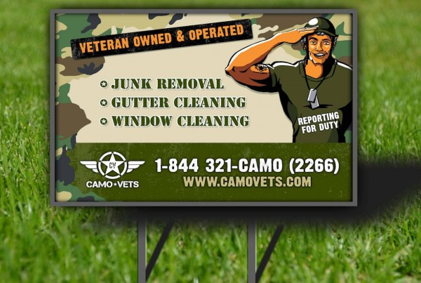 Camo Vets Lawn Sign Design - Smart As A Fox