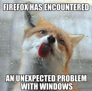 Firefox has encountered - SAAF
